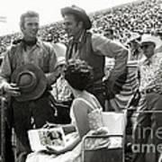 Clint Eastwood  Eric Fleming Characters Rowdy Yates Salinas California 1962 Art Print