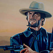 Clint Eastwood Painting Art Print