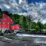 Clinton Red Mill House Art Print by Lee Dos Santos
