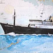 Clipper Epic Longline Fishing Boat Nautical Chart Map Art Art Print