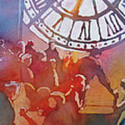 Clock Cafe Art Print