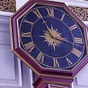 Clock In An Old Church Art Print