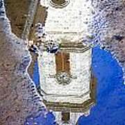 Clock Tower Reflected Art Print