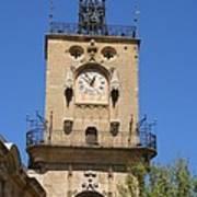 Clocktower - Aix En Provence Art Print
