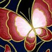 Cloisonne Butterfly Print by Elaina  Wagner