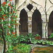 Cloister Courtyard Art Print