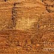 Close Up Of A Rocky Outcrop At Wadi Rum In Jordan Art Print