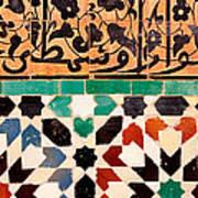 Close-up Of Design On A Wall, Ben Art Print