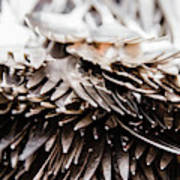 Close Up Of Heap Of Silver Forks Art Print