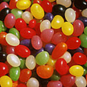 Close Up Of Jelly Beans Art Print
