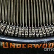 Close Up Of Vintage Typewriter Keys. Art Print