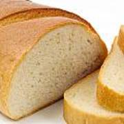 Close-up Of White Bread With Slices Art Print