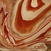 Poured Agate Painting 8 Close-up One Art Print