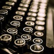 Close Up Vintage Typewriter Art Print by Edward Fielding