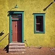 Closed Door Of House Art Print
