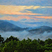 Closer To Heaven In The Blue Ridge Mountains Art Print