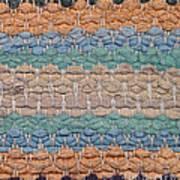 Closeup Of Old Rag Rug Art Print