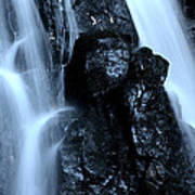 Closeup Waterfall Art Print