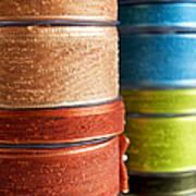 Cloth Ribbons Art Print