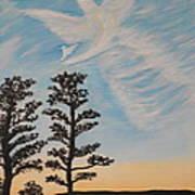 Cloud Angel In Acryics Art Print