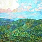 Cloud Dance On The Blue Ridge Art Print