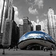 Cloud Gate B-w Chicago Art Print