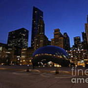 Cloud Gate Chicago At Sunset Art Print