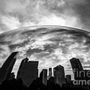 Cloud Gate Chicago Bean Art Print by Paul Velgos