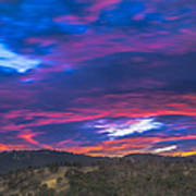 Cloud Movement At Sunset Art Print
