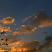 Cloud Series 30 Of Sunset Art Print