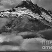 Cloud Smothered Peaks Art Print