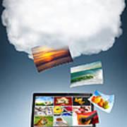 Cloud Technology Art Print