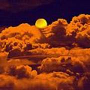 Clouds And The Moon Art Print