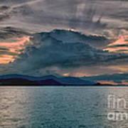 Clouds Explosion Art Print