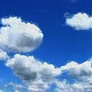 Clouds In A Blue Sky Art Print