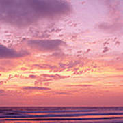 Clouds In The Sky At Sunset, Pacific Art Print