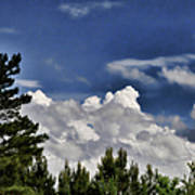 Clouds Like Mountains Behind The Pines Art Print