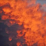 Clouds Of Fire Art Print