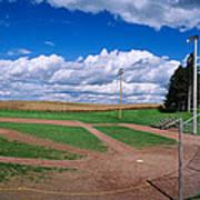 Clouds Over A Baseball Field, Field Art Print