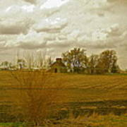 Clouds Over An Illinois Farm Art Print