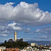 Clouds Over Coit Tower Art Print