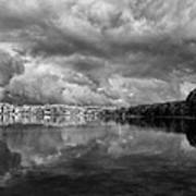 Clouds Over Crystal Lake Art Print by Kevin Kludy