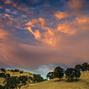 Clouds Over East Bay Hills Art Print