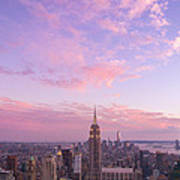 clouds over Empire State Art Print