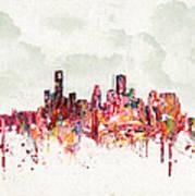 Clouds Over Houston Texas Usa Art Print