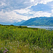 Clouds Over Jackson Lake In Grand Teton National Park-wyoming Art Print