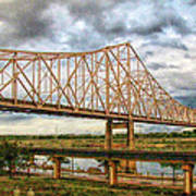 Clouds Over King Bridge Art Print