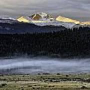 Clouds Over Longs Peak Art Print by Tom Wilbert