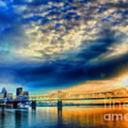 Clouds Over Louisville Art Print