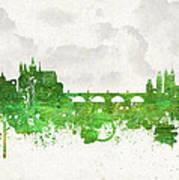 Clouds Over Prague Czech Republic Art Print by Aged Pixel